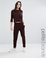 Vero Moda Petite Knitted Staight Leg Trousers Chocolate Brown