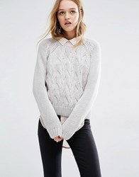 Rollas Rolla's Cable Knit Jumper Fog Cream