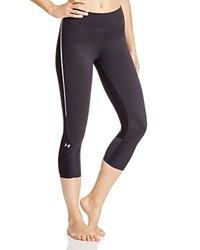 Under Armour Clutchfit Cropped Two Tone Leggings Black Metallic Silver