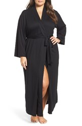 Natori Plus Size Women's Shangri La Robe Black