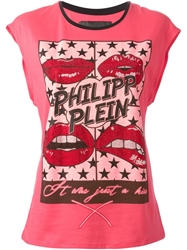Philipp Plein 'Love Me' T Shirt Pink And Purple
