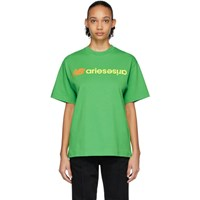 Aries Green New Balance Edition Logo T Shirt