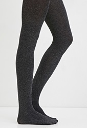 Forever 21 Marled Opaque Tights Heather Grey