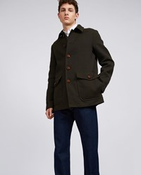 Aspesi Wool Blend Jacket Stambecco Military