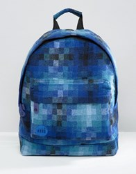Mi Pac Pixel Check Backpack Blue Navy