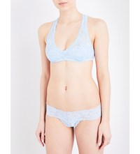 Cosabella Racie Never Say Never Lace Racerback Bralette Sorrento Blue