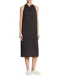 Hatch Medina Sleeveless Dress Black Ivory Painted Diamond Black
