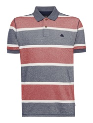 Army And Navy Davis Stripe Polo Shirt Navy And Red