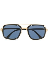 Cartier Square Tinted Sunglasses Gold