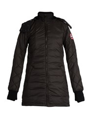 Canada Goose Stellarton Hooded Quilted Down Coat Black