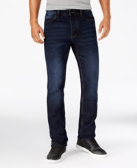 Sean John Men's Speakeasy Dark Wash Jeans Cognac Tint