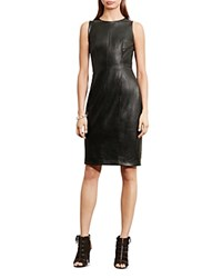Ralph Lauren Faux Leather Sheath Dress Forest
