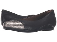 Hanover Earthies Black Printed Suede Women's Flat Shoes Multi