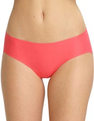 Commando Seamless Cotton Blend Hipsters Coral Rose