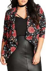 City Chic Plus Size Women's Floral Tapestry Jacket