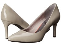 Rockport Total Motion 75Mm Pointy Toe Pump Smog Patent High Heels Beige