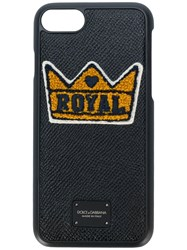 Dolce And Gabbana Royal Crown Iphone 7 Case Black