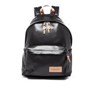 Eastpak Padded Pak'r Leather Backpack Black