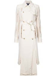 Rokh Double Breasted Trench Coat Women Viscose 34 Brown