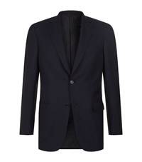 Brioni Ravello Wool Jacket Male Navy