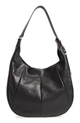 Frye Jacqui Leather Hobo Black