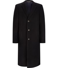 Austin Reed Navy Long Wool Coat