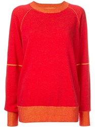 Maison Martin Margiela Mm6 Classic Knit Sweater Red