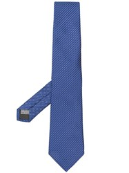 Canali Silk Patterned Tie Blue