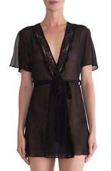 In Bloom By Jonquil Women's Lace Trim Chiffon Robe
