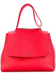 Orciani Small Tote Women Calf Leather One Size Red
