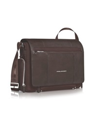 Piquadro Link 15 Laptop Messenger Bag Dark Brown