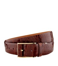 Zilli Crocodile Skin Belt Brown