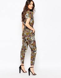 Love Jumpsuit In Paisley Print With Elasticated Waist Multi