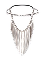 Miu Miu Fringed Crystal Tiara Metallic