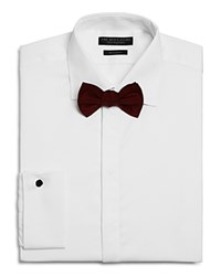 Bloomingdale's The Men's Store At Textured Regular Fit Tuxedo Shirt White