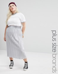Alice And You Plisse Midi Skirt Silver
