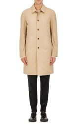 Barneys New York Men's Gabardine Mackintosh Trench Coat Tan