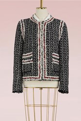 Moncler Gamme Rouge Smallwood Detachable Tweed Jacket Black White Red