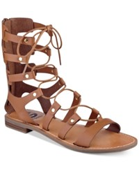 G By Guess Hopey Gladiator Sandals Women's Shoes Cognac