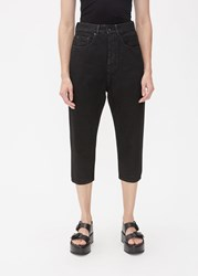 Rick Owens Drkshdw 'S Collapse Cut Jean In Black Size 26 100 Cotton