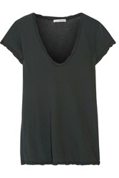 James Perse Cotton Jersey T Shirt Forest Green