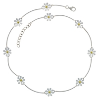 Nina B Petal Sterling Silver And Gold Plated Necklace
