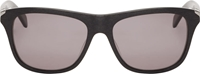 Jil Sander Black Brushed Matte Wayfarer Sunglasses