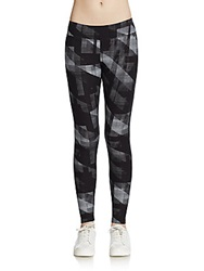 Marc New York By Andrew Marc Performance Abstract Print Performance Leggings Black Multi
