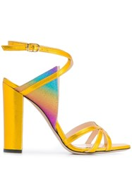 Marc Ellis Vegas Rainbow Panel Wrap Sandals Yellow