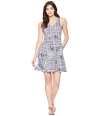 Toadandco Sunkissed Cut Out Dress Thistle Herringbone Print Gray