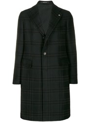 Tagliatore Checked Coat Black