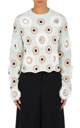 Opening Ceremony Women's Eclipse Crewneck Sweater Light Blue