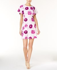 Kensie Floral Print A Line Dress Bright Purple Combo