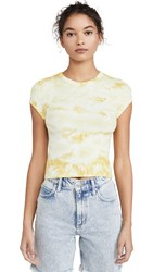 Enza Costa Rib Cropped Cap Sleeve Crew Lime Ionic